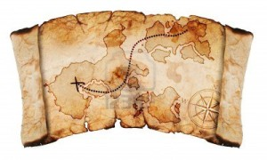 12704439-old-treasure-map-isolated-on-a-white-background